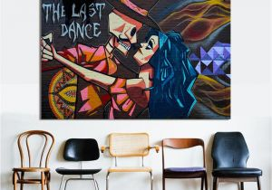 Buy Mural Paintings Online Graffiti Canvas Art Modern Street Art Last Dance Wall for