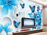 Buy Wall Mural Online Simple Wallpaper 3d Mural Tv Background Wall Mural Living Room Wall Covering Blue Lily Custom Wallpaper sofa Background Wall