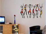 Buy Wall Murals Online India Stickerskart Wall Stickers Wall Decals African Dancing Women 5761 50×70 Cms