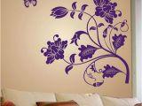 Buy Wall Murals Online India Stickerskart Wall Stickers Wall Decals Purple Vine Flower 5710 50×70 Cms