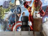 Buzz Lightyear Wall Mural Avengers Boys Bedroom Wallpaper Custom 3d Wall Murals Marvel