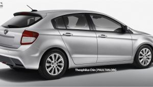 Cabela's Wall Murals Proton Preve Hatchback – A Sketch Of the Rear Carstation