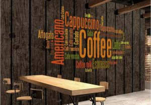 Cabin In the Woods Wall Mural Vintage Wallpaper 3d Retro Coffee Letters Wall Murals