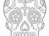 Calavera Mask Coloring Page Calavera Sugar Skull Coloring Page From Sugar Skulls Category