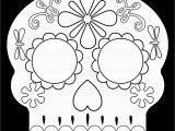 Calavera Mask Coloring Page Day Of the Dead Masks Sugar Skulls Free Printable Paper Trail Design