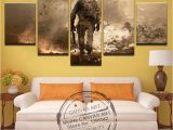 Call Of Duty Wall Murals Us $7 99 5 Piece Canvas Wall Art Home Decor Frame Abstract Call Duty Black Action Paintings Hd Printed the Film Posters Meihe In Painting &