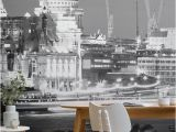 Calming Wall Murals London Black and White Wall Mural Muralswallpaper