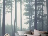 Calming Wall Murals Sea Of Trees forest Mural Wallpaper