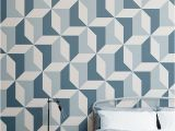 Camouflage Wall Murals Blue Geometric Wallpaper Abstract Design