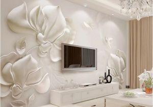 Camouflage Wall Murals Custom Wall Mural Wallpaper 3d Plaster Relief Magnolia Flower Bird