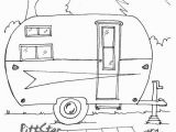 Camper Trailer Coloring Pages Camper Trailer Outline with Popular Trend