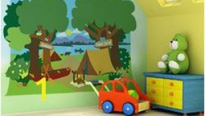 Camping themed Wall Murals Camping Room Decorations
