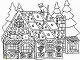 Candy Coloring Pages for Gingerbread House Christmas Coloring Pages for Adults Gingerbread House 12