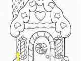 Candy Coloring Pages for Gingerbread House Free Printable House Coloring Pages for Kids Coloring
