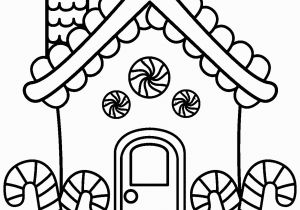 Candy Coloring Pages for Gingerbread House Full House Coloring Pages