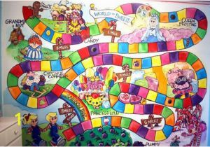 Candyland Wall Mural Incredible Diy Hand Painted Candy Land Board Game Mural Kids Play