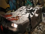 Car Crashing Through Wall Mural Am – Car & Murals 0d Jackson Pollock Crash – Artwork © tonyc