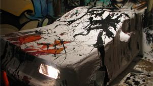 Car Crashing Through Wall Mural Am – Car & Murals 0d Jackson Pollock Crash – Artwork © tonyc