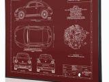 Car Crashing Through Wall Mural Volkswagen Beetle Laser Engraved Wall Art Engraved On Metal Acrylic or Wood Custom Car Art Poster Sign Great Car Gift