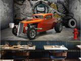 Car Murals for Walls Custom 3d Wall Murals Wallpaper Creative Stereoscopic Space Car