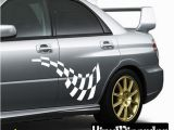 Car Window Murals Checkered Flags Wall Decal Vinyl Decal Car Decal Sm034