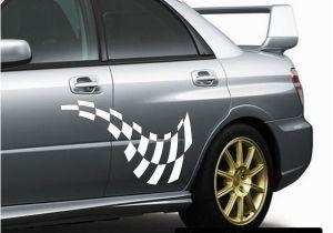 Car Window Murals Checkered Flags Wall Decal Vinyl Decal Car Decal Sm034