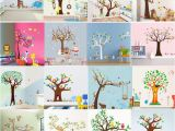 Care Bear Wall Murals 15 Styles Cartoon forest Animals Owl Monkey Bear Elephant Tree Wall