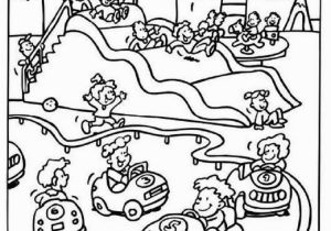 Carnival Coloring Pages Preschool Amusement Park Carnival Coloring Pages