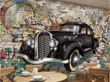 Cars 2 Wall Mural Beibehang Big Wall Retro Vintage Car Wall 3d Restaurant Bar Mural