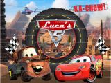 Cars 2 Wall Mural Personalize Kids Poster Lightning Mcqueen Poster Disney Cars Party