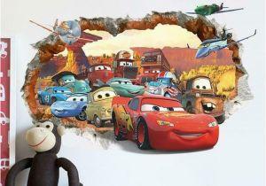 Cars 2 Wall Murals Pixar Cars 2 3 Sticker Lightning Mcqueen Mater Pvc