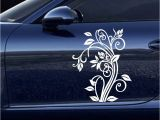 Cars Mural Wall Stickers Pegatina Flower butterfly Sticker Vine Car Decal Posters