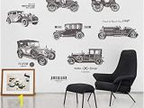 Cars themed Wall Murals Amazon Inveroo Vintage Car Wall Stickers for Kids Rooms