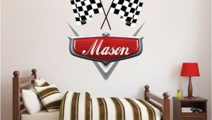 Cars themed Wall Murals Personalized Boys Race Car Name Decal