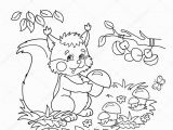 Cartoon butterflies Coloring Pages Coloring Page Outline Cartoon Squirrel with Mushrooms In the