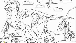 Cartoon Dinosaur Coloring Pages Velociraptor Cretaceous Period Dinosaur Coloring Page Free