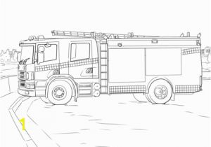 Cartoon Fire Truck Coloring Page Fire Truck Coloring Page Colouring Pages S