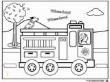 Cartoon Fire Truck Coloring Page Fire Truck Coloring Page for Preschoolers