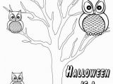 "Cartoon Halloween Coloring Pages Halloween is A Hoot"" Printable Halloween Coloring Page"