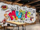 Cartoon Murals On the Wall Animated Band Music Cartoon Ic Art Wall Murals Wallpaper