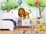 Cartoon Murals On the Wall Customized 3d Murals Wallpapers Home Decor Wall Paper Animal Story Animal Park Cartoon Children S Room Kids Room Background Wall Nature Desktop