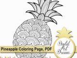 Cartoon Pineapple Coloring Page Pineapple Coloring Page Pdf Coloring Pages for Adults Jpg Digital