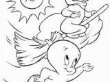 Casper Halloween Coloring Pages Halloween Coloring Page