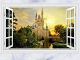 Castle Murals for Nursery 3d Disney Castle Wall Decals & Wall Stickers