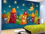 Castle Murals for Nursery Custom Wall Paper Cartoon Children Castle 3d Wall Murals Kids