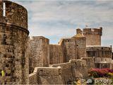 Castle Stone Wall Mural City Walls and Minceta tower In Dubrovnik Dalmatia Croatia Wall Mural Vinyl