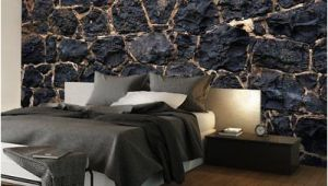 Castle Stone Wall Mural Wallpaper Art Picture Stone Black Rock Brick F A 0526
