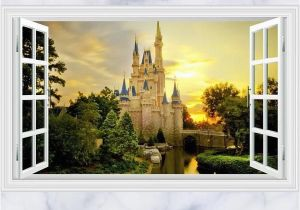 Castle Wall Mural Sticker 3d Disney Castle Wall Decals & Wall Stickers