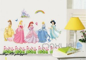 Castle Wall Mural Sticker 5 Disney Princess Castle Rainbow Wall Decal Removable