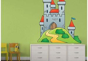 Castle Wall Mural Sticker Amazon Azutura Kings Castle Wall Sticker Knight Fantasy